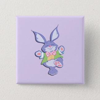 Dancing Purple Easter Bunny Lavender Pinback Button