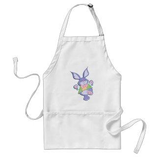 Dancing Purple Easter Bunny Mint Adult Apron