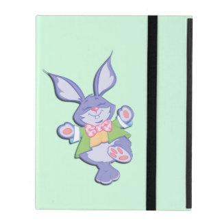 Dancing Purple Easter Bunny Mint iPad Folio Case