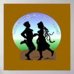 dancing quakers poster