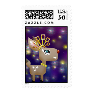 Dancing queen deer postage