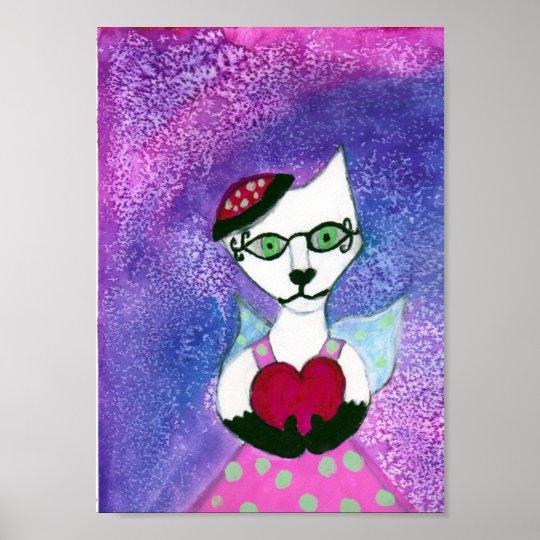 Dancing queen hearts watercolors poster