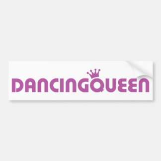dancing queen icon bumper sticker