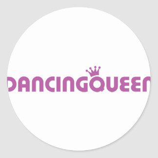 dancing queen icon classic round sticker