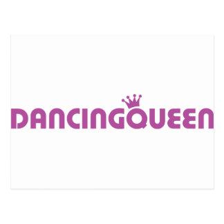 dancing queen icon postcard