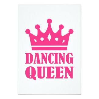 Dancing queen 3.5x5 paper invitation card