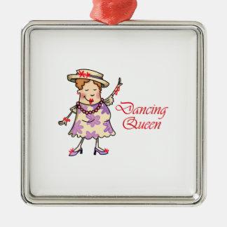 Dancing Queen Square Metal Christmas Ornament