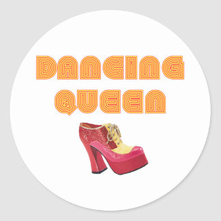 Dancing Queen Pegatina Redonda