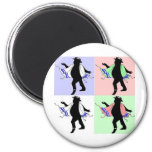 Dancing Rabbi Style 2 Inch Round Magnet