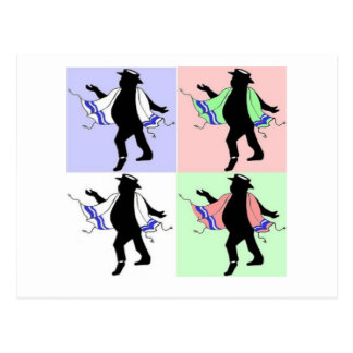 Dancing Rabbi Style Postcard