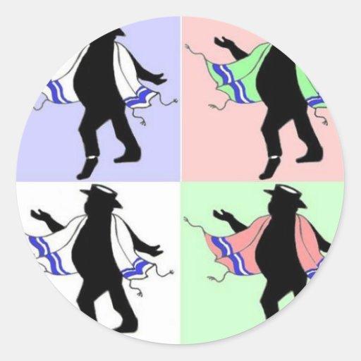 Dancing Rabbi Style Stickers