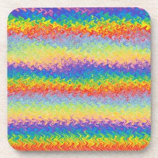 Dancing Rainbow Coasters