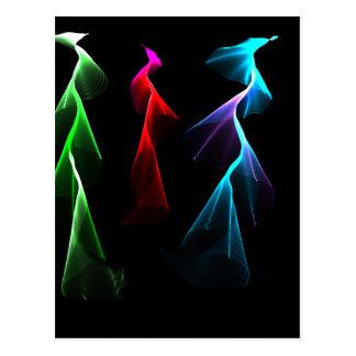 Dancing Rainbow Lightning Post Cards