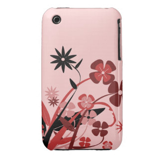 Dancing Red Flowers iPhone 3 Covers