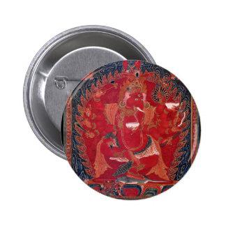Dancing Red Ganapati Pinback Button