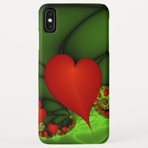 Dancing Red Hearts Modern Abstract Fractal Art Phone Case