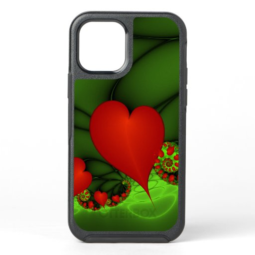 Dancing Red Hearts Modern Abstract Fractal Art OtterBox Symmetry iPhone 12 Case