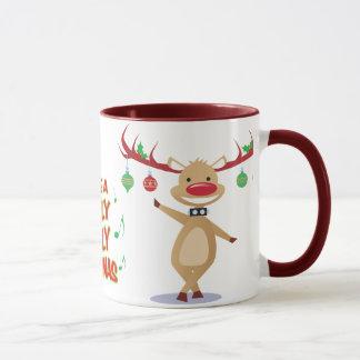 Dancing Reindeer Holiday Mug