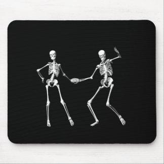 Dancing Retro Skeletons Mouse Pad