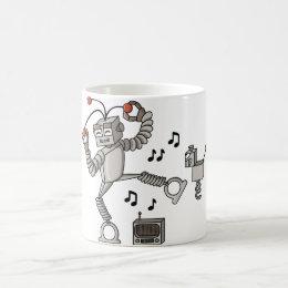 Dancing robot coffee mug