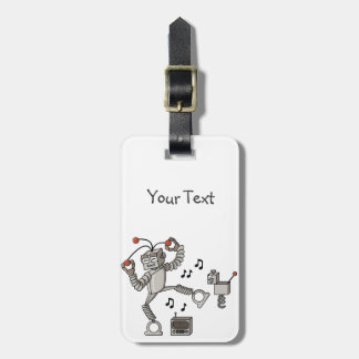 Dancing robot tags for bags
