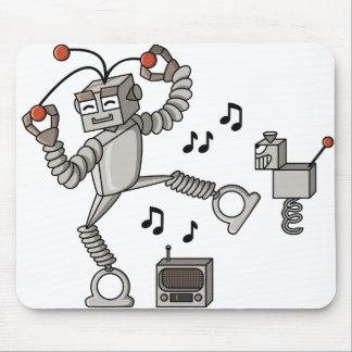 Dancing robot mouse pad