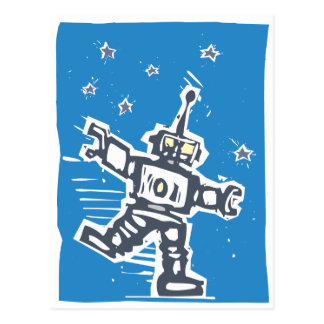 Dancing Robot Postcard