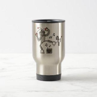 Dancing robot travel mug