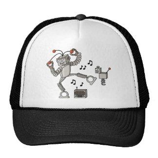Dancing robot trucker hat