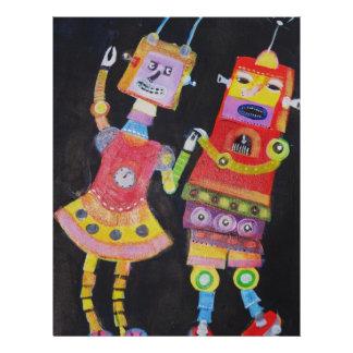 Dancing Robots Flyer Design