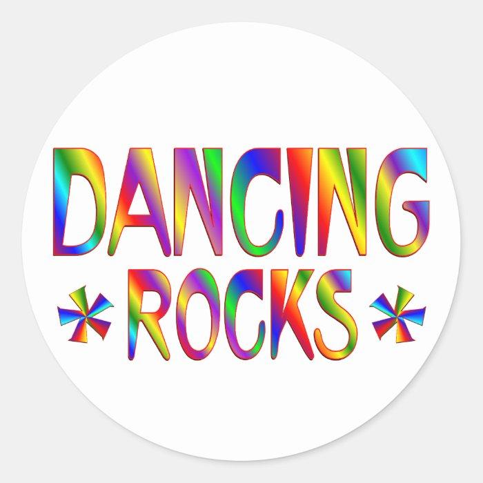 Dancing Rocks Classic Round Sticker
