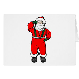 Dancing Santa Claus Card