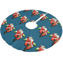 Dancing Santa Claus Christmas Tree Skirt