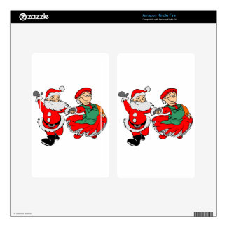 Dancing Santa claus Skin For Kindle Fire