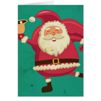 Dancing Santa Greeting Card