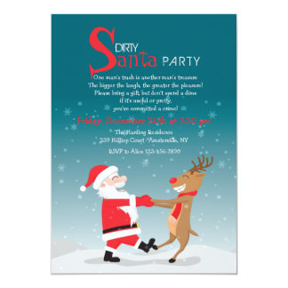 Dancing Santa Party Invitation