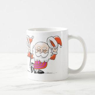 Dancing Santas 11 oz. mug