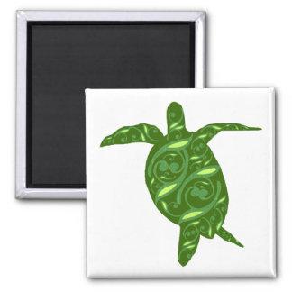 Dancing sea turtle magnet