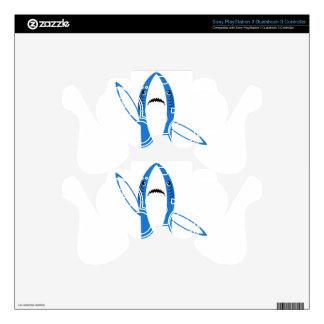 Dancing Shark PS3 Controller Decal