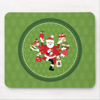 Dancing Shiva Claus Mouse Pad