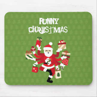 Dancing Shiva Claus - Spruce Forest Mouse Pad