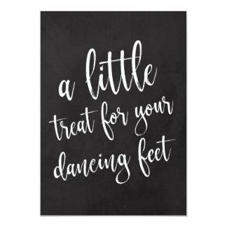 Dancing Shoes Affordable Chalkboard Wedding Sign Card