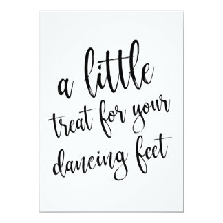 Dancing Shoes Calligraphy Affordable Wedding Sign Card