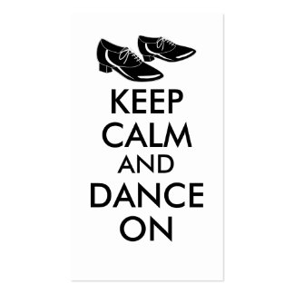 Dancing Shoes Customizable Keep Calm and Dance On Business Card