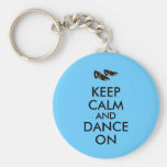 Dancing Shoes Customizable Keep Calm and Dance On Basic Round Button Keychain