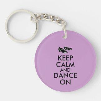 Dancing Shoes Customizable Keep Calm and Dance On Key Chain