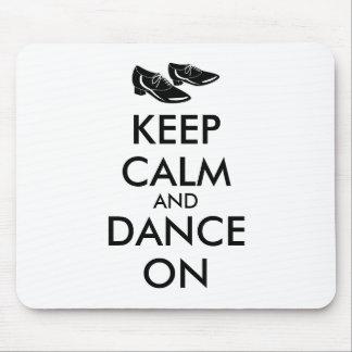 Dancing Shoes Customizable Keep Calm and Dance On Mousepad