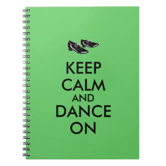 Dancing Shoes Customizable Keep Calm and Dance On Notebook
