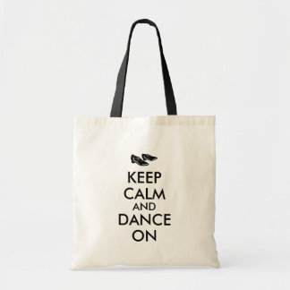 Dancing Shoes Customizable Keep Calm and Dance On Tote Bag