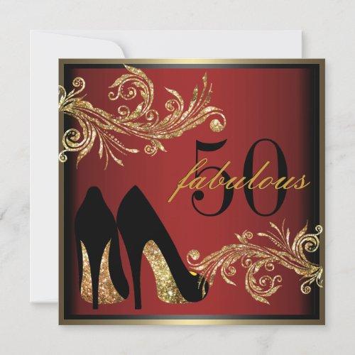 Dancing Shoes _ Fabulous 50th Birthday Invitation